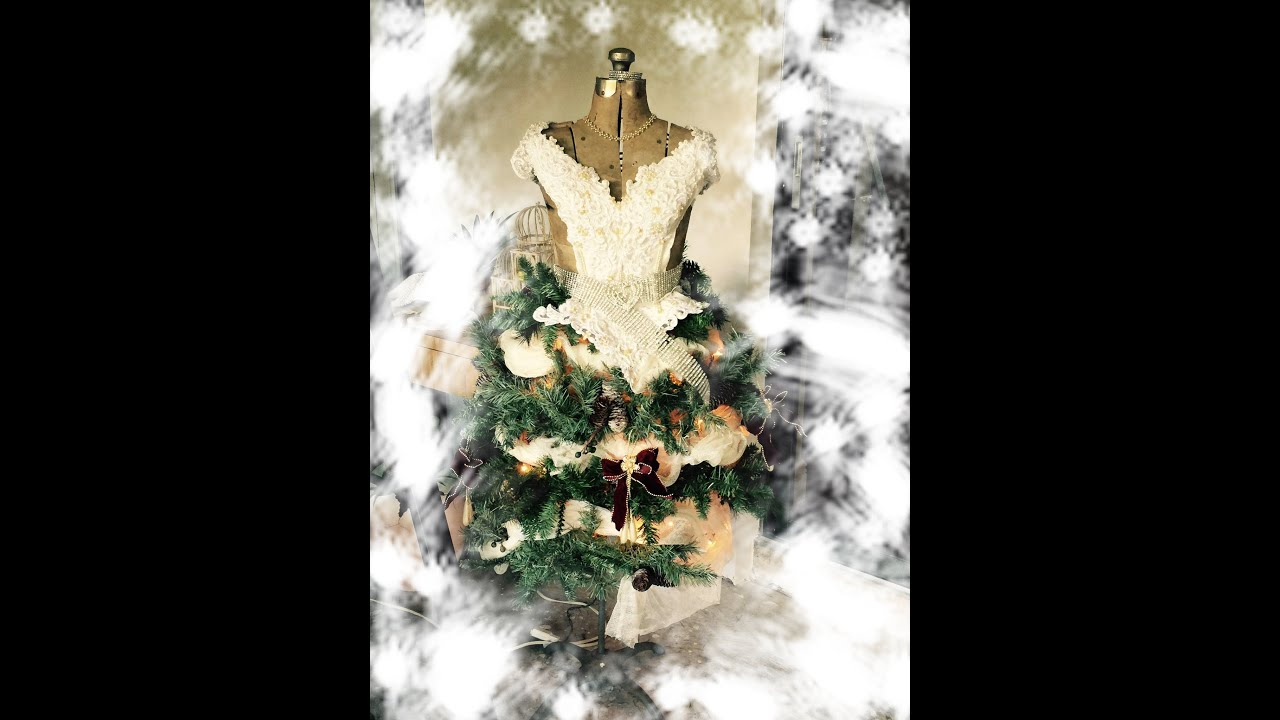 diy christmas tree dress form and play time at janets youtube - Christmas Tree Dress