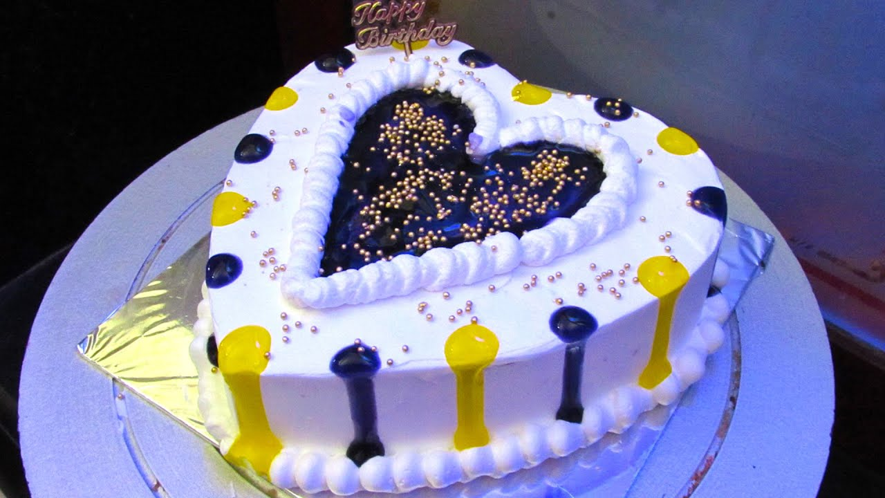 Heart Shape Cake Decoration At Home : Anniversary Cake - Easy Heart Shaped Cake Decoration ...