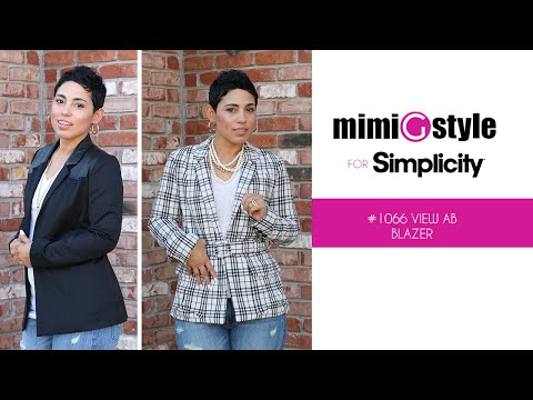 MimiG Style for Simplicity Lined Jacket - Pattern 1066