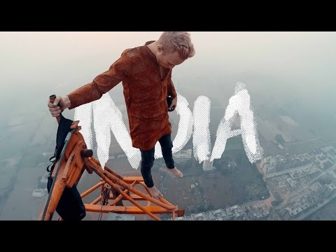 climbing the tallest crane in India! - India vlog part 3