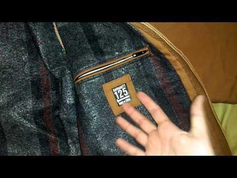 c42487f87f38d Carhartt Duck Detroit blanket lined jacket - YouTube