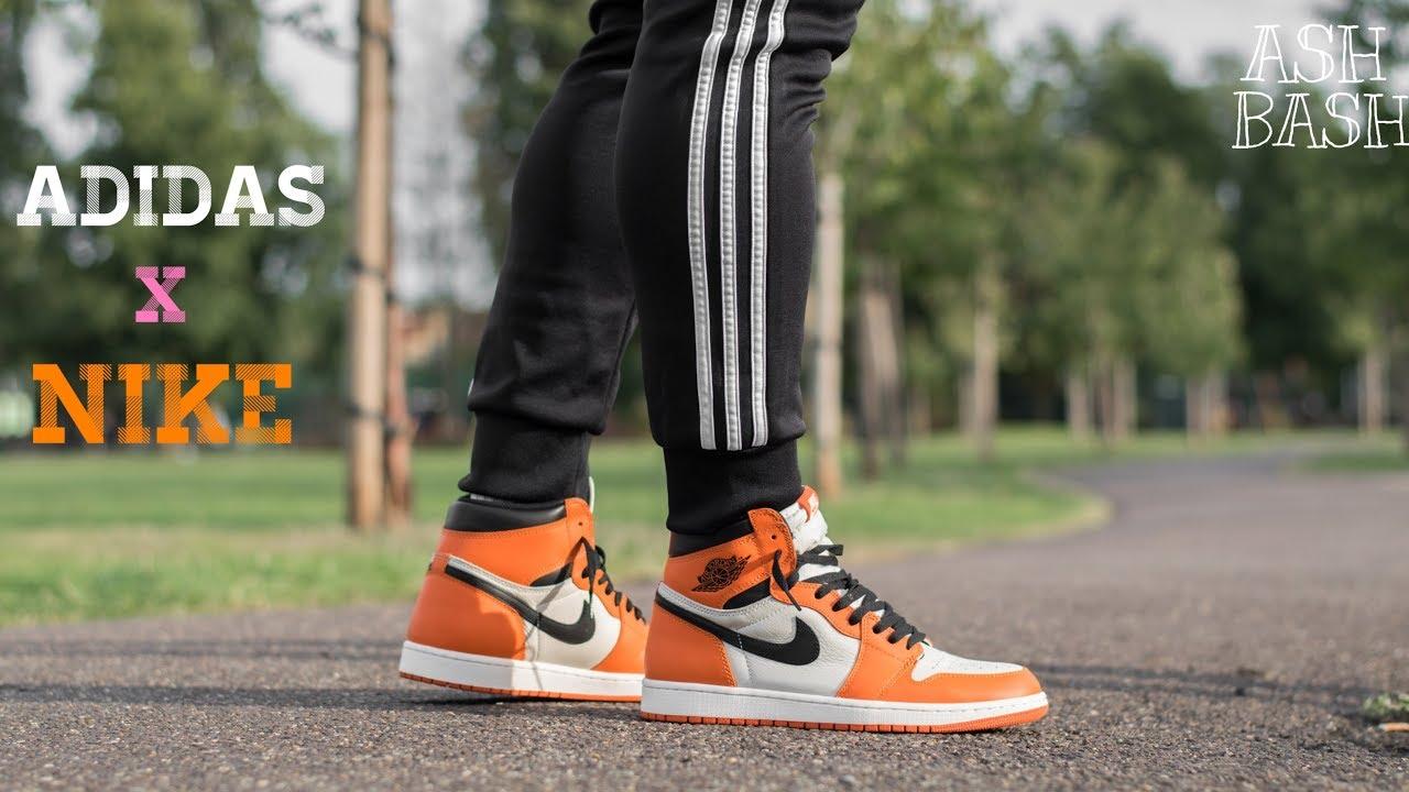 Wearing Adidas with Jordans | Ok or Nah