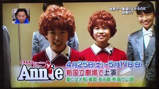2015年丸美屋ミュージカルアニーのイッテQ応援です! ミュージカルアニ...