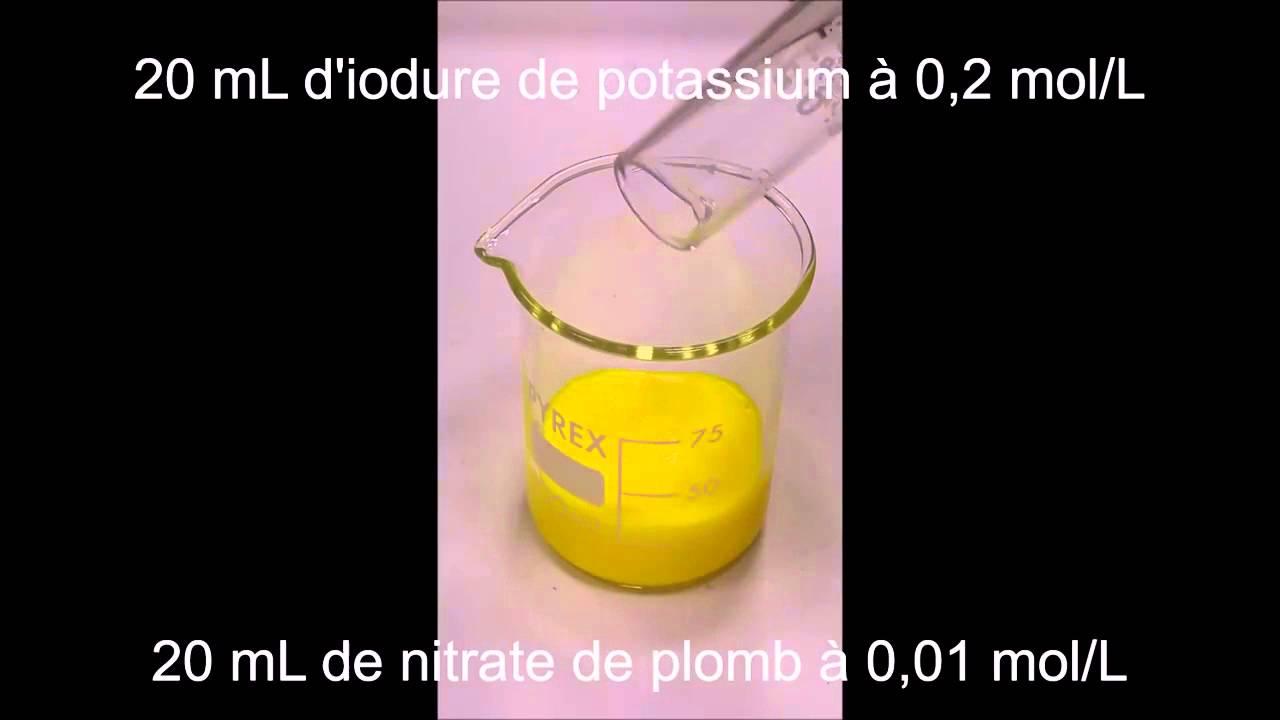 Formation Iodure De Plomb