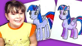 Как мы Рисуем Twilight Sparkle / как нарисовать Пони принцессу Искорку