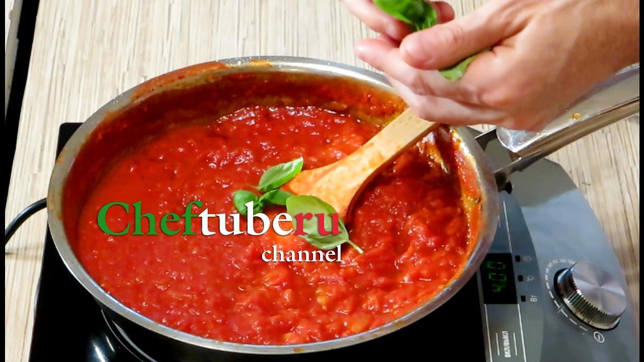 как приготовить томатный соус к макарогам видео