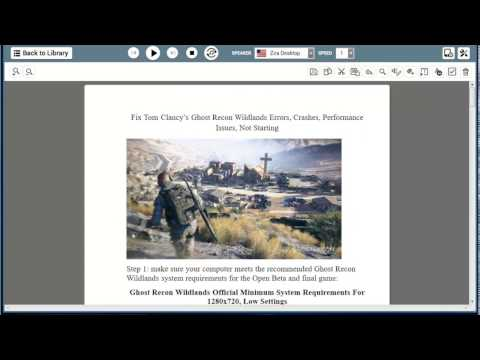 Fix Tom Clancy's Ghost Recon Wildlands errors/crashes/performance