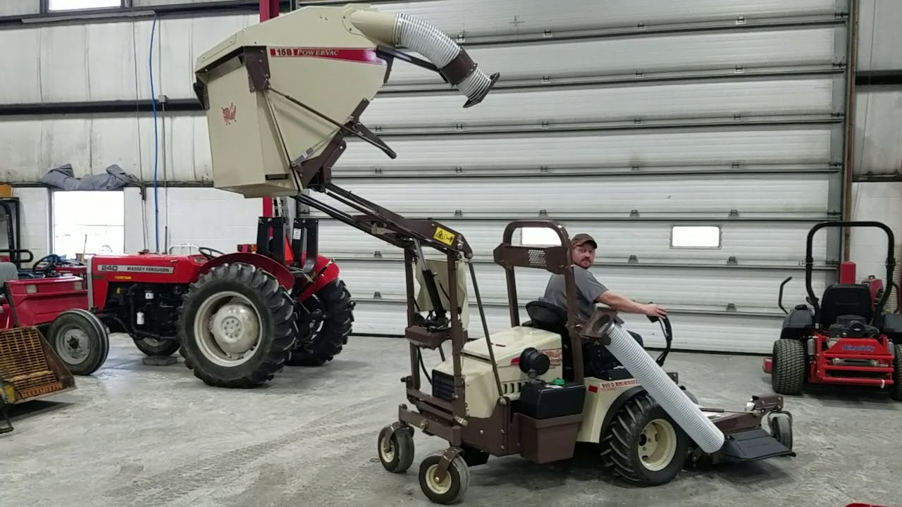 Grasshopper PowerVac model 15B High-Lift Collector - Gibbsville Implement  Waldo, WI