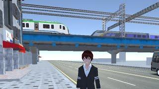 기차가 지나가는 다리 (Train Bridge test) [3D운전게임]