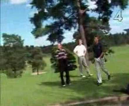 Fredrik och Filip på Lidingö golfklubb