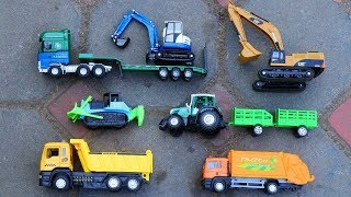 Car Toys Playing For Children | Truck , Excavator ,Tank , Trailer truck , Forklift