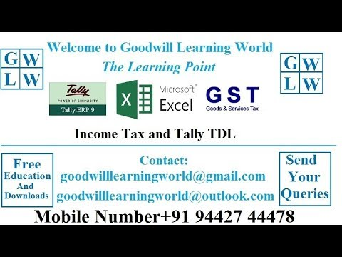 Tally - Notional Bank Entries   Post Dated Receipt Entries in Tally Video