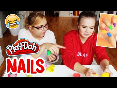 DIY PLAY DOH NAILS selber machen / Knete LIVE TEST / by GossipGold
