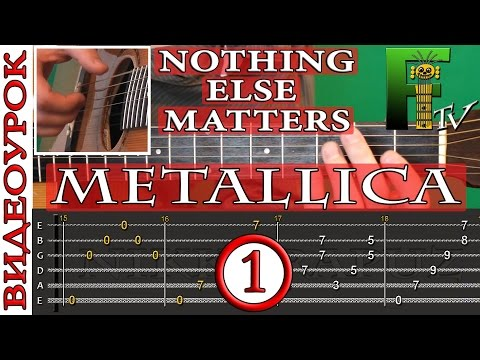 ВИДЕОУРОК METALLICA - Nothing Else Matters 1-я часть(FingerstyleTV)