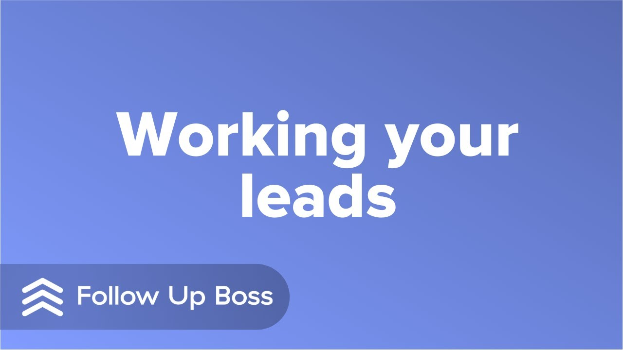 Video 5: Working Your Leads