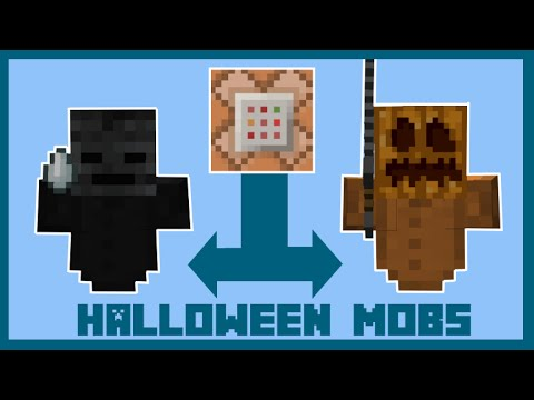 Minecraft:TOP 5 HALLOWEEN MOBS (ONLY ONE COMMAND) - YouTube