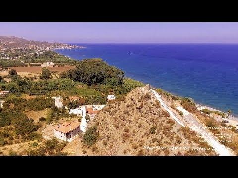 Medieval Observation Post At Kato Pyrgos Tyllirias (Cyprus Aerial Video)