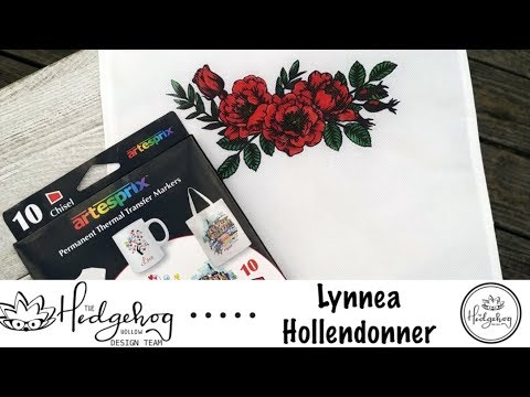 Stamping on a Tote Bag with Artesprix Markers