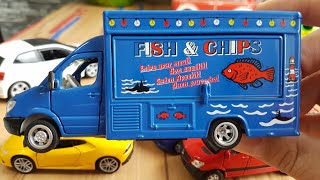Kids Video Mobile Shop Car Fissh & Chips with more toy Cars for Kids