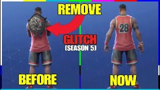 *HOW TO* REMOVE ANY BACK BLING! FORTNITE SEASON 5 BUG! [TUTORIAL]