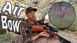 Deer Hunting With The AirBow Air Rifle  / Day 18  Of 30 Day Survival Challenge  Texas