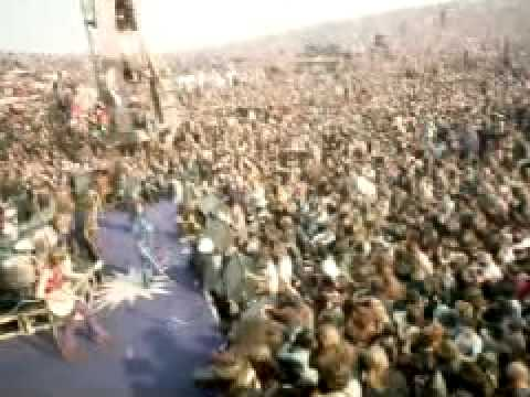 Rolling Stones and the Hells Angels at Altamont