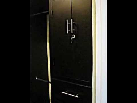vestidor en madera de pino color chocolate - YouTube