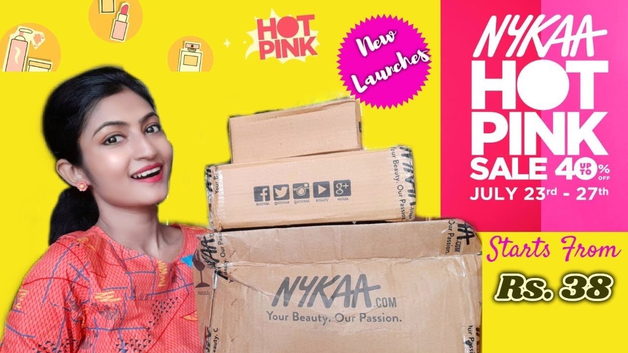 NYKAA HOT PINK SALE Haul *Starts Rs.38* NEW LAUNCHES || Makeup, Skincare || Its makeover tym