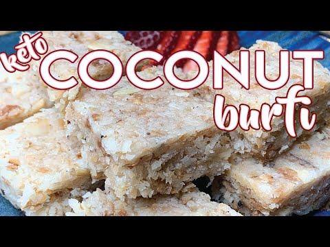 keto-coconut-burfi-|-low-carb-nariyal-badam-burfi-|-easy-to-keto-indian-sweets