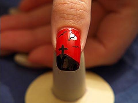 Nail Art step by step guidance 189 - Halloween motive 003 - from www.schmucknaegel.de