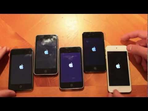 iPod Touch 5G vs 4G vs 3G vs 2G vs 1G: Speed Test