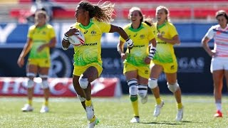Is she the fastest player in women's rugby sevens?