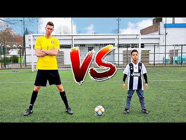 FOOTBALL CHALLENGES VS CRISTIANO RONALDO JR *HES GOOD*