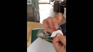How to do papercut infills