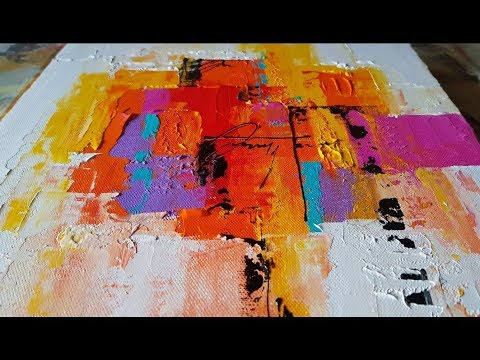 Abstract painting / Easy Palette Knife technique ...