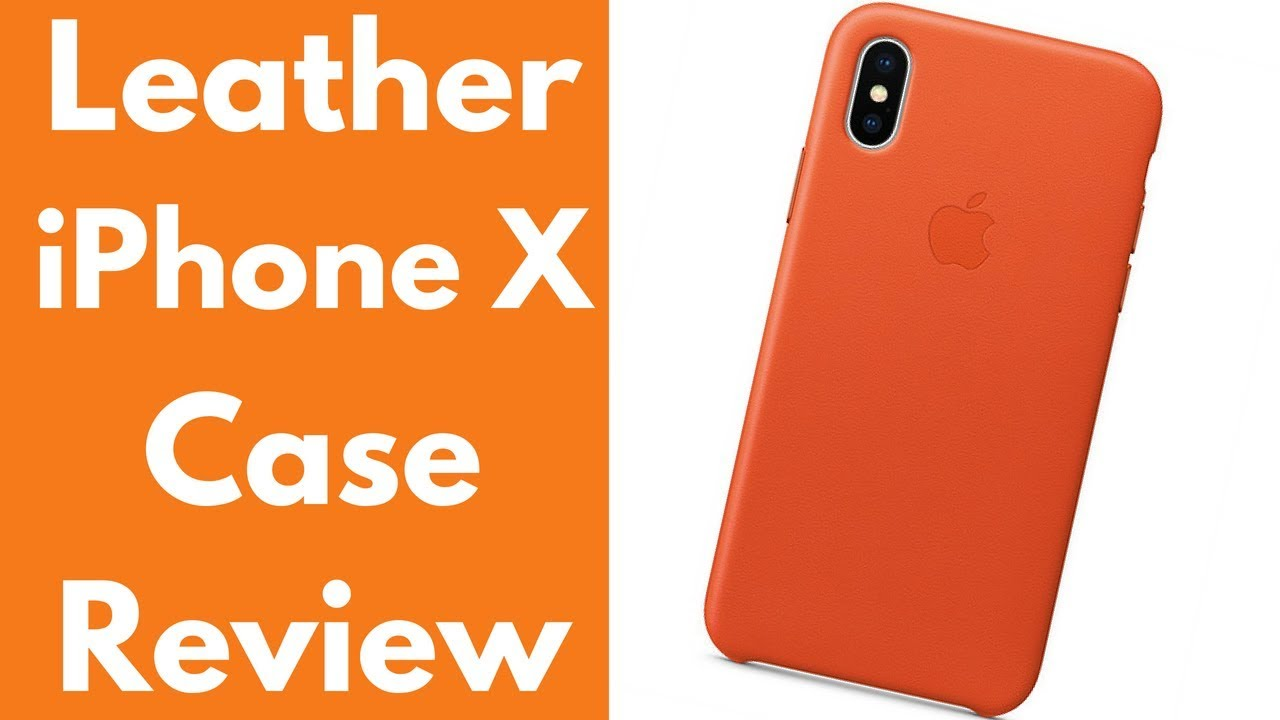 newest 56edb 82e0d Apple Leather iPhone X Case Review