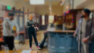 Hannah Waddingham Performing Christmas ( Baby please come home ) | BTS of Ted Lasso | Rebecca