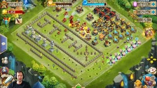 Rolling 25,000 Gems For Heroes NICE BASE! Castle Clash