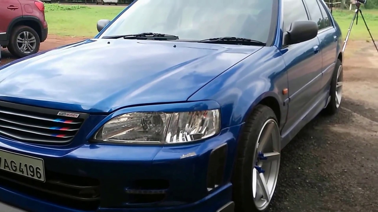 Modified Honda City Blue - YouTube