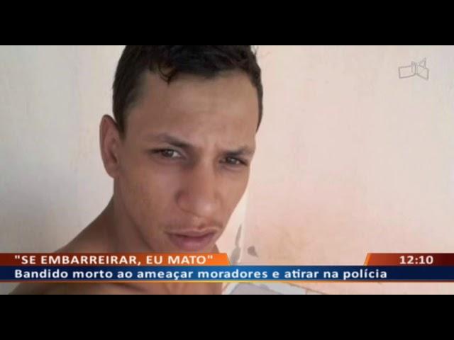 DF ALERTA - Bandido morto ao ameaçar moradores e atirar na polícia