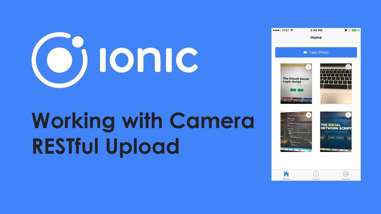 Ionic Angular Camera Images Uploading with Restful