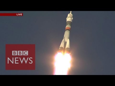 Moment when Tim Peake & Soyuz rocket blasted off to ISS - BBC News