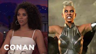 "Alexandra Shipp's Crotch-Numbing ""X-Men: Apocalypse"" Stunt  - CONAN on TBS"
