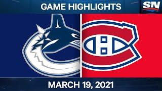 NHL Game Highlights   Canucks vs. Canadiens – Mar. 19, 2021