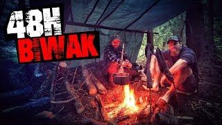 48H Biwak am See mit neuer Ausrüstung - Hängematte Tarp Messer Stockbrot - Overnighter Übernachtung