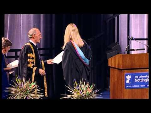 2013 graduation ceremony of University of Nottingham - Part 2