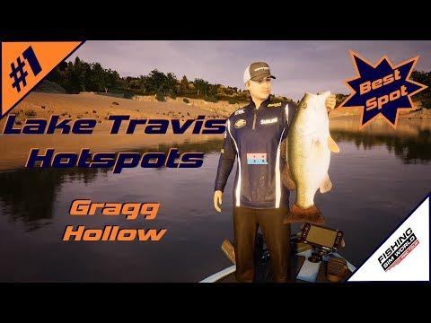 Fishing Sim World: Pro Tour | Lake Travis Bass Hotspots #1 | Gragg Hollow