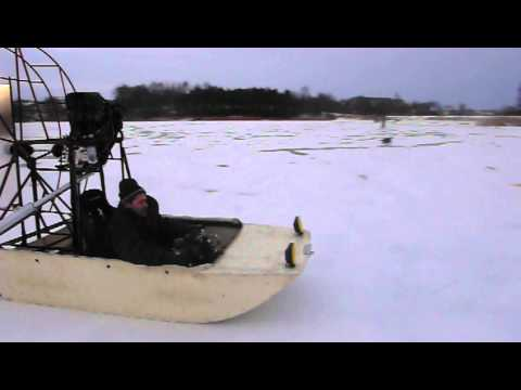 Airboat powered by Yamaha 600cc engine   First test drive-2