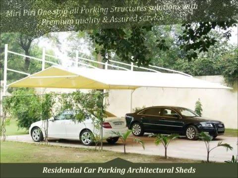 Latest, Unique & Best Tensile Car Parking Structures Manufacturers Supplier Contractors Delhi, India