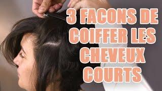 comment se coiffer sur cheveux court